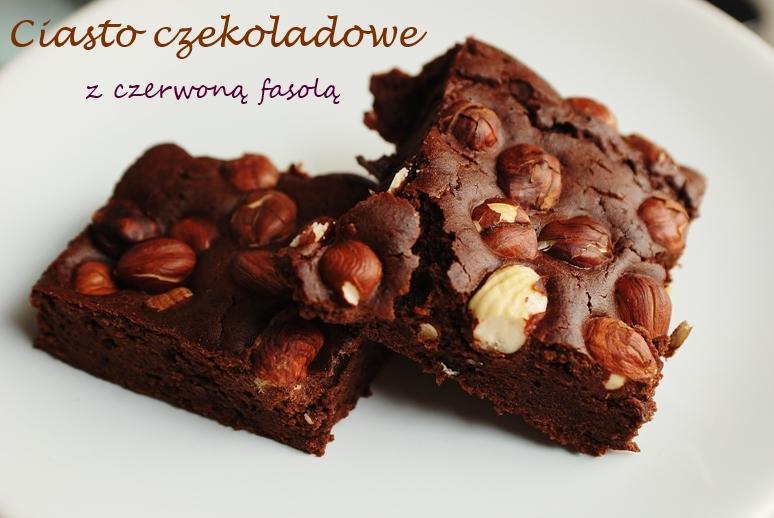 Ciasto czekoladowe z czerwoną fasolą