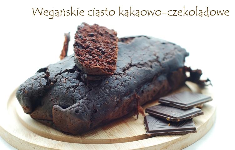 Wegańskie ciasto kakaowo-czekoladowe