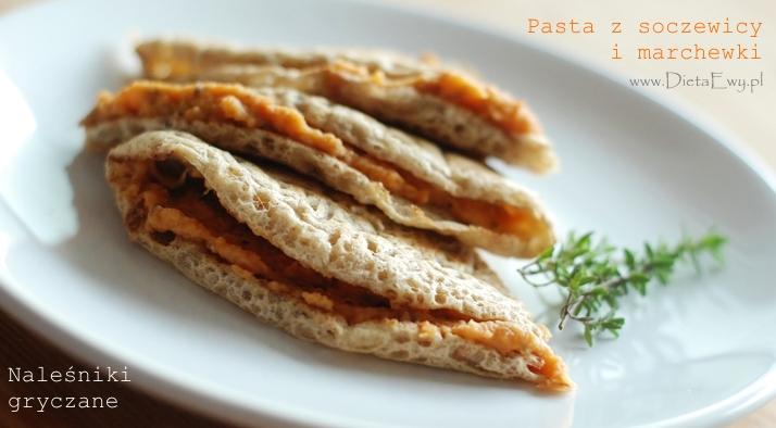 Pasta z soczewicy i marchewki